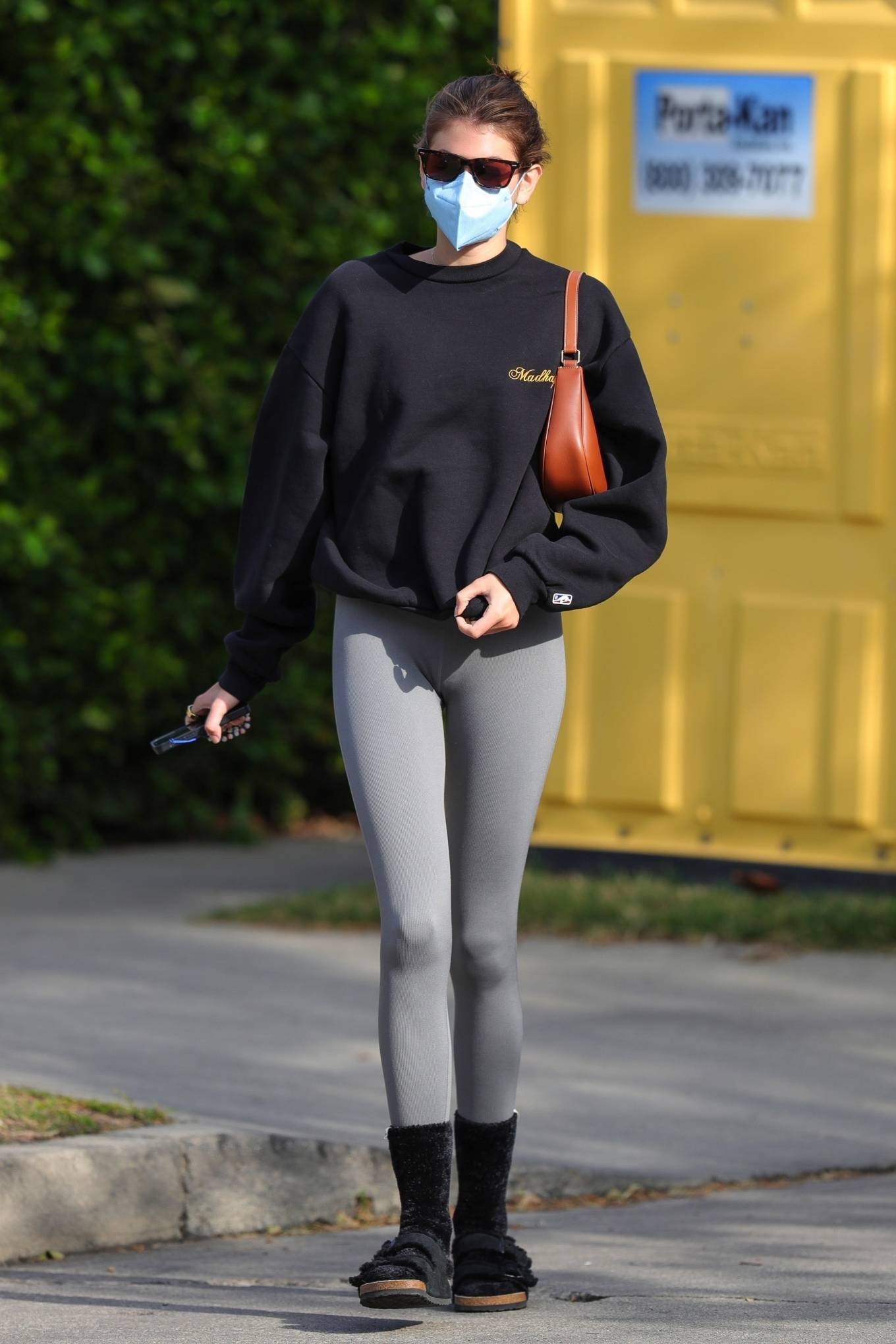 Kaia Gerber 2021 : Kaia Gerber – Out for a pilates class in West Hollywood-47