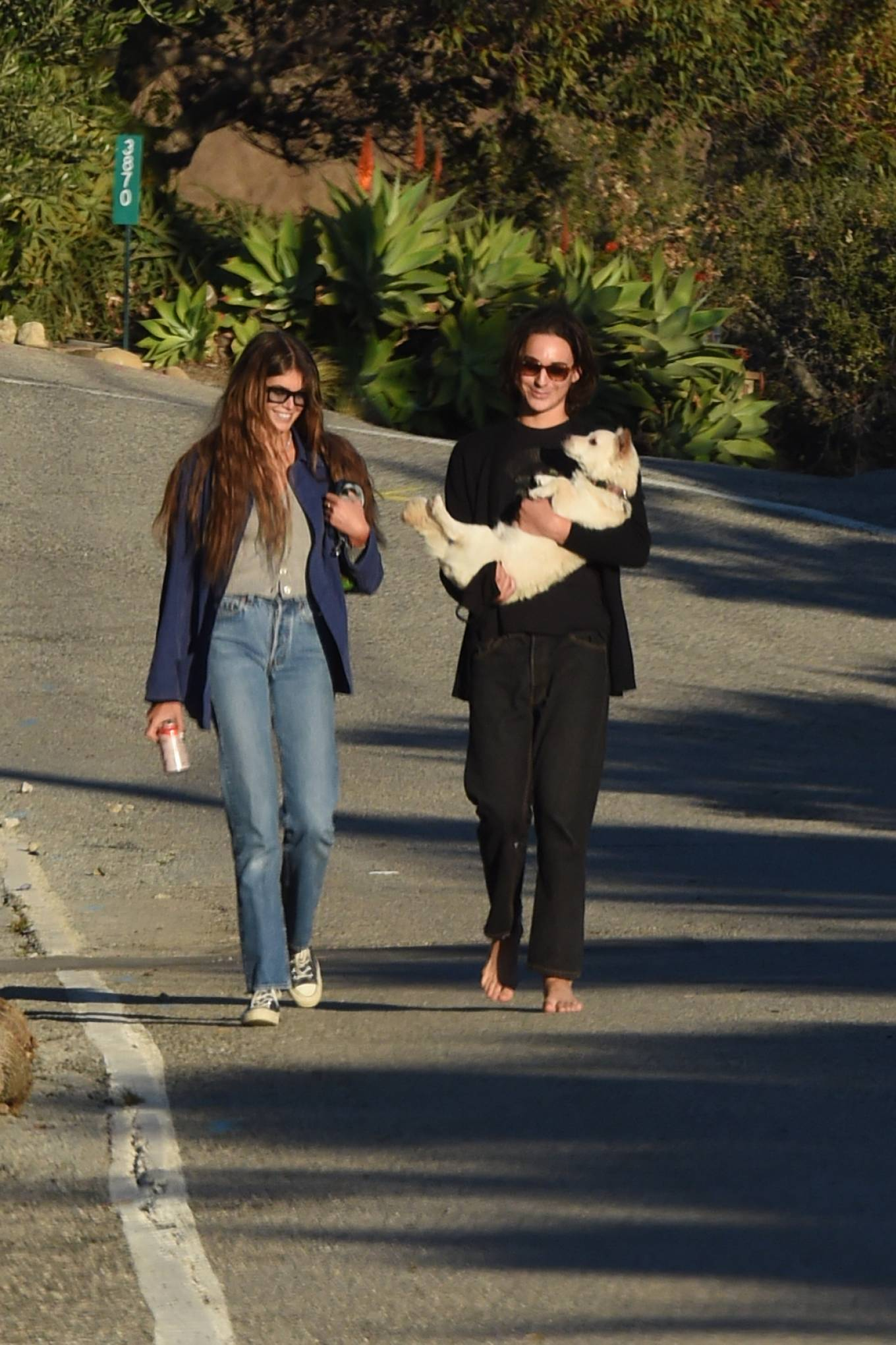 Kaia Gerber - Out for a stroll in Malibu