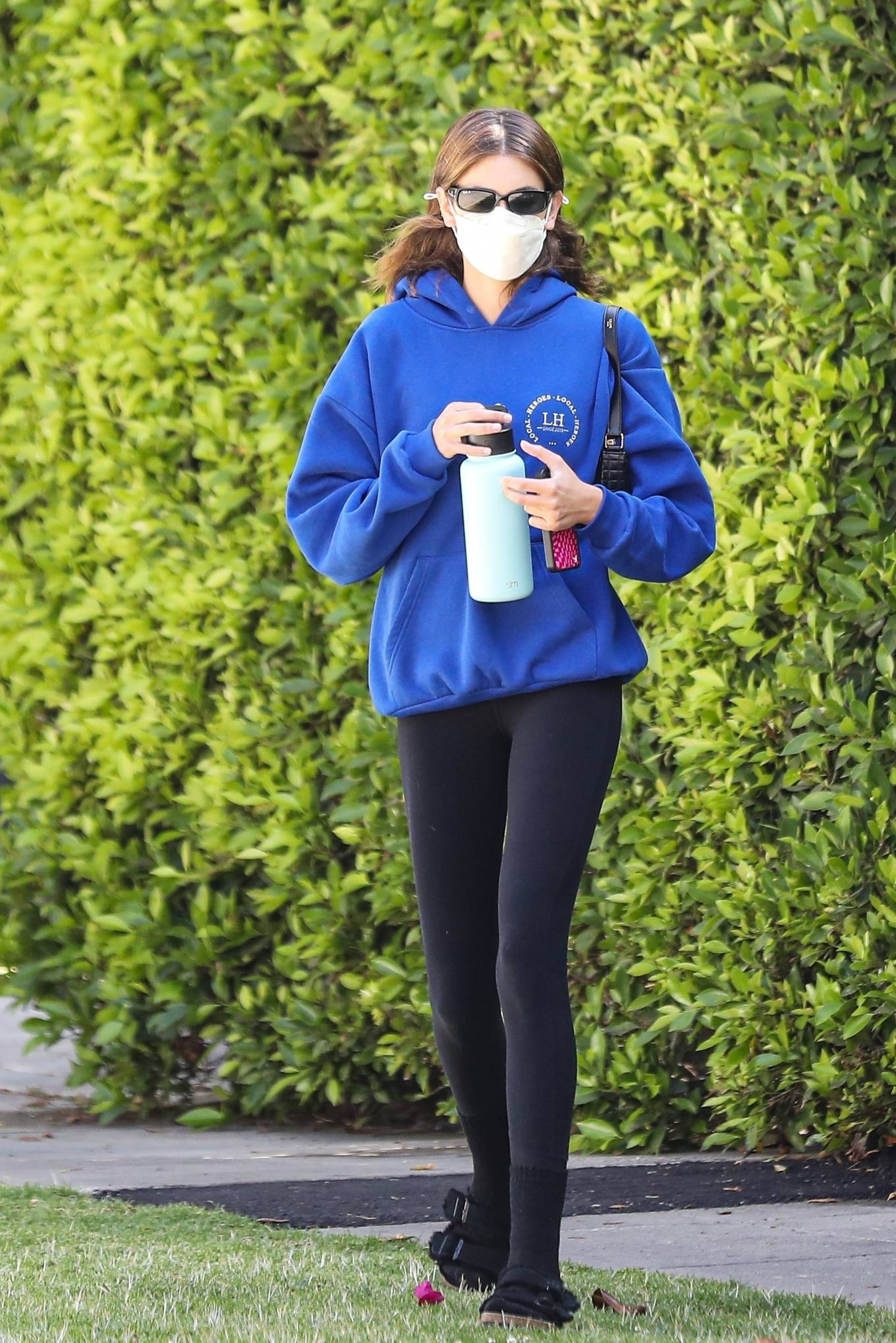 Kaia Gerber 2021 : Kaia Gerber – Out for pilates class in West Hollywood-05