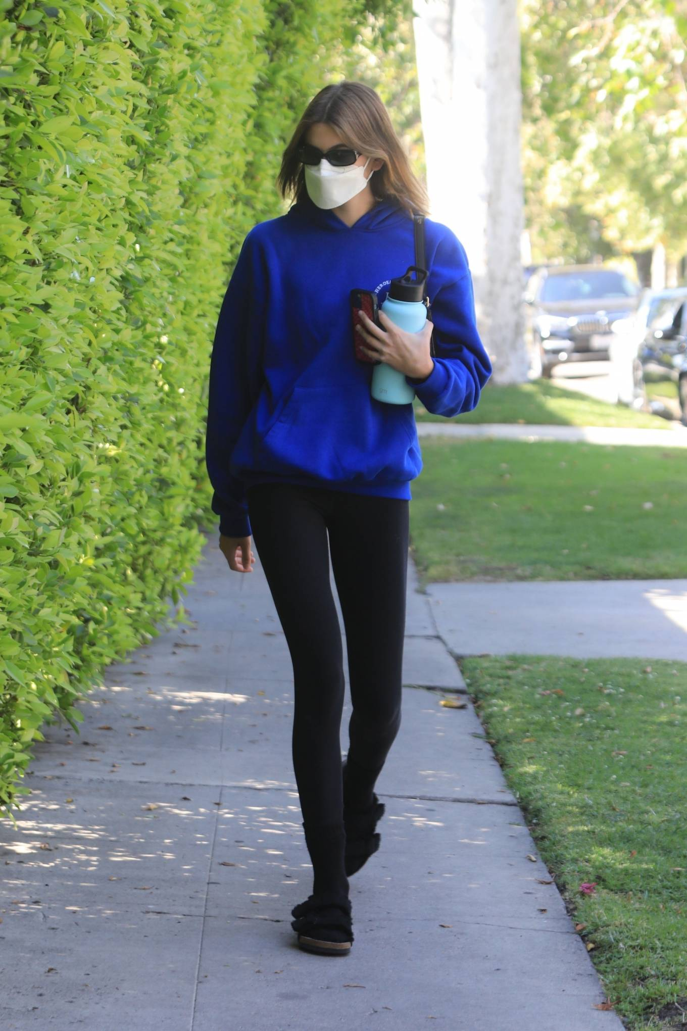 Kaia Gerber 2021 : Kaia Gerber – Out for pilates class in West Hollywood-07