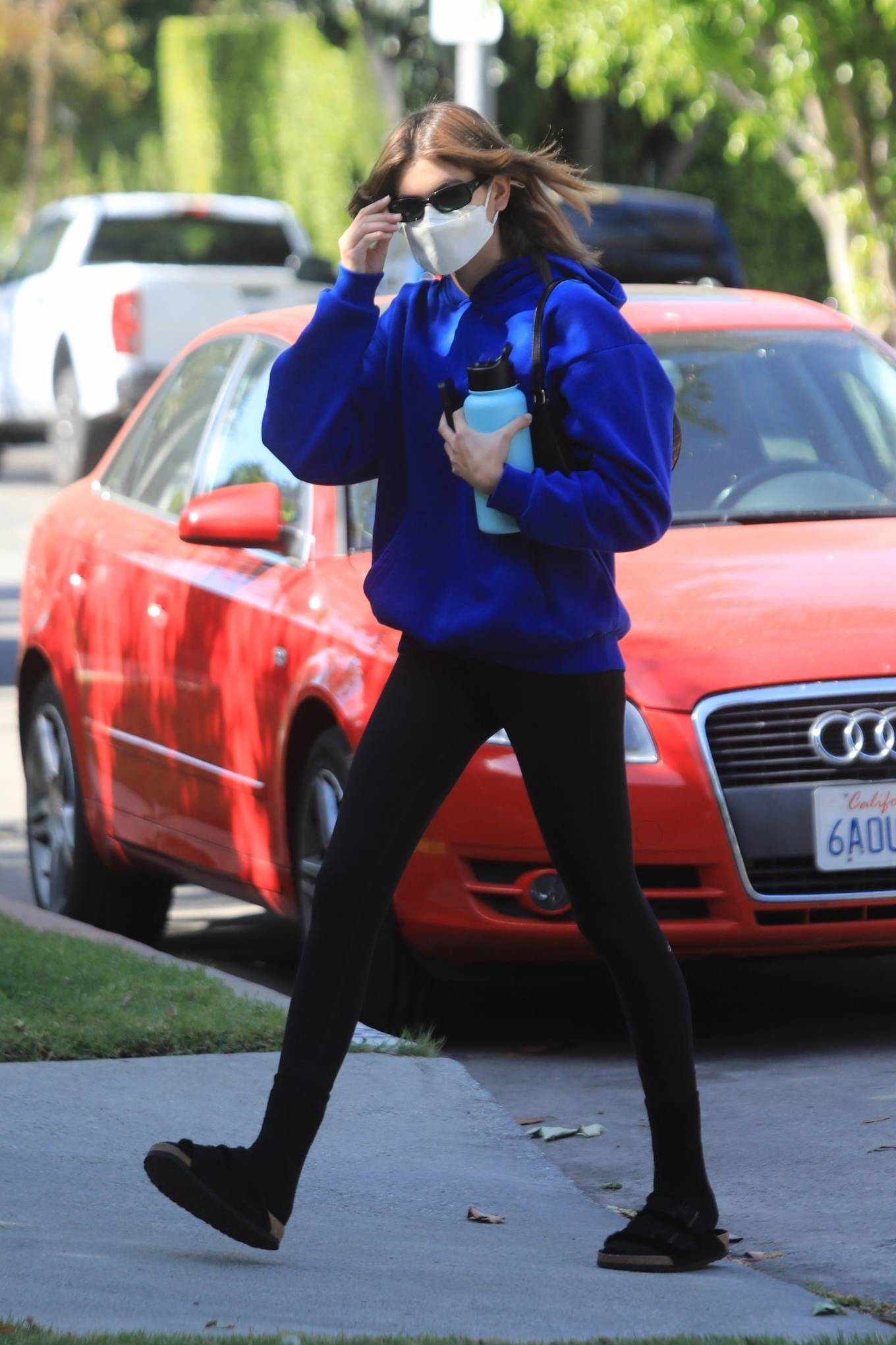Kaia Gerber 2021 : Kaia Gerber – Out for pilates class in West Hollywood-08