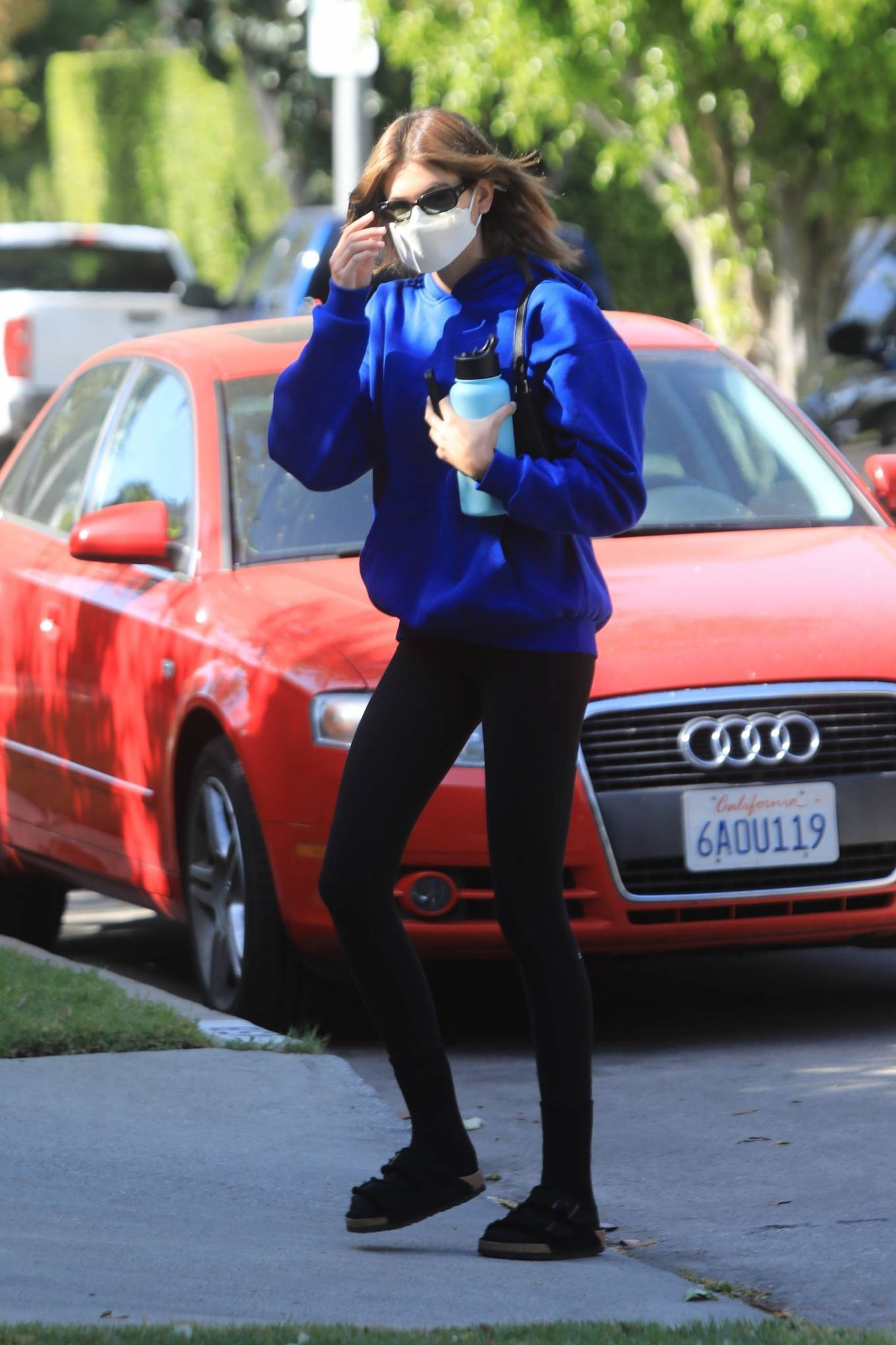 Kaia Gerber 2021 : Kaia Gerber – Out for pilates class in West Hollywood-14