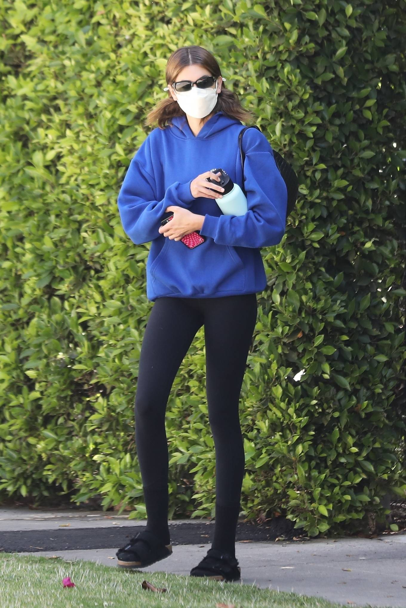 Kaia Gerber 2021 : Kaia Gerber – Out for pilates class in West Hollywood-20