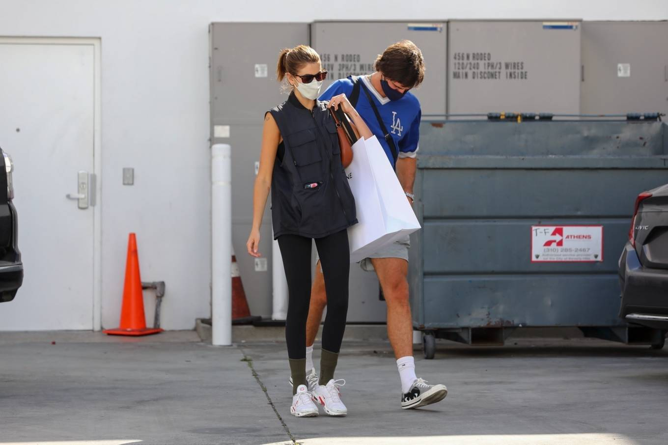 Kaia Gerber 2021 : Kaia Gerber – Out with Jacob Elordi for a shopping at Celine in Beverly Hills-04