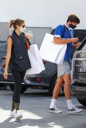 Kaia Gerber - Out with Jacob Elordi for a shopping at Celine in Beverly Hills