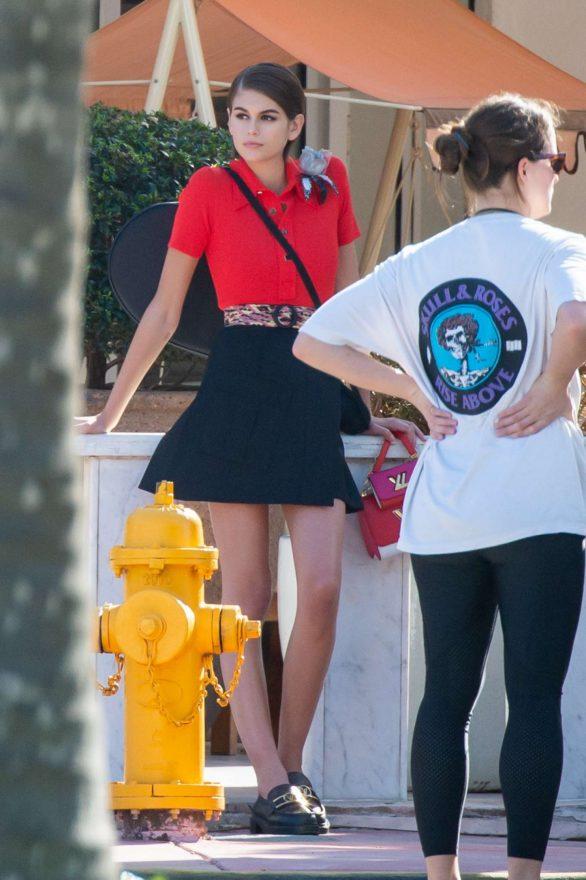 Kaia Gerber 2020 : Kaia Gerber – Photoshoot on the beach in Miami-02