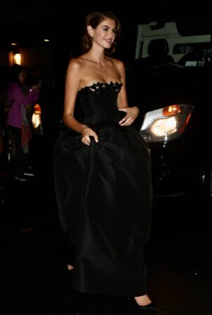 Kaia Gerber - Returns from Met Gala in New York