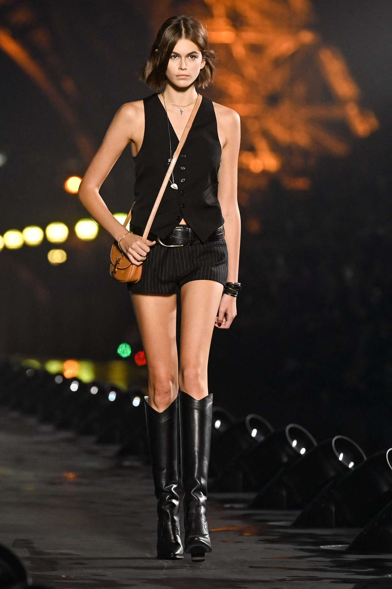 Kaia Gerber - Saint Laurent Womenswear Runway Show at Paris Fashion Week