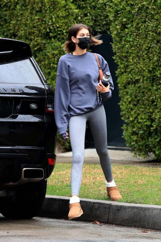Kaia Gerber - Seen after a workout session in West Hollywood