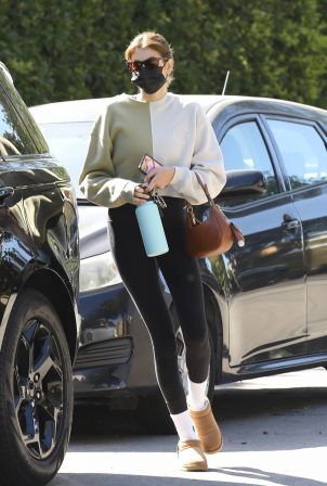 Kaia Gerber - Seen after pilates class in Los Angeles