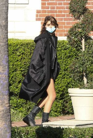 Kaia Gerber - Seen at 'American Horror Story' Season 10 set in Burbank