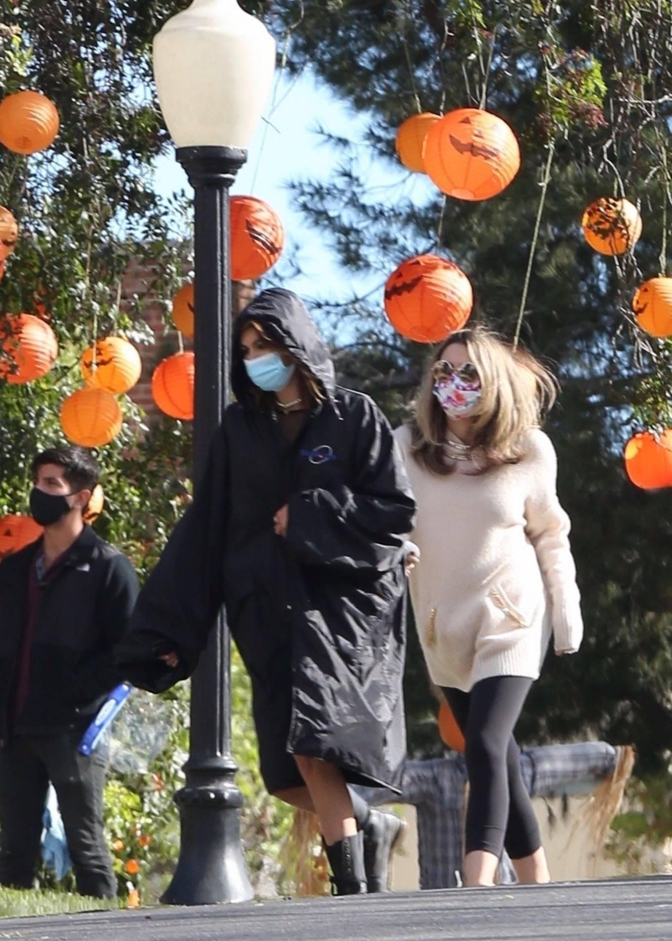 Kaia Gerber 2021 : Kaia Gerber – Seen at American Horror Story Season 10 set in Burbank-05