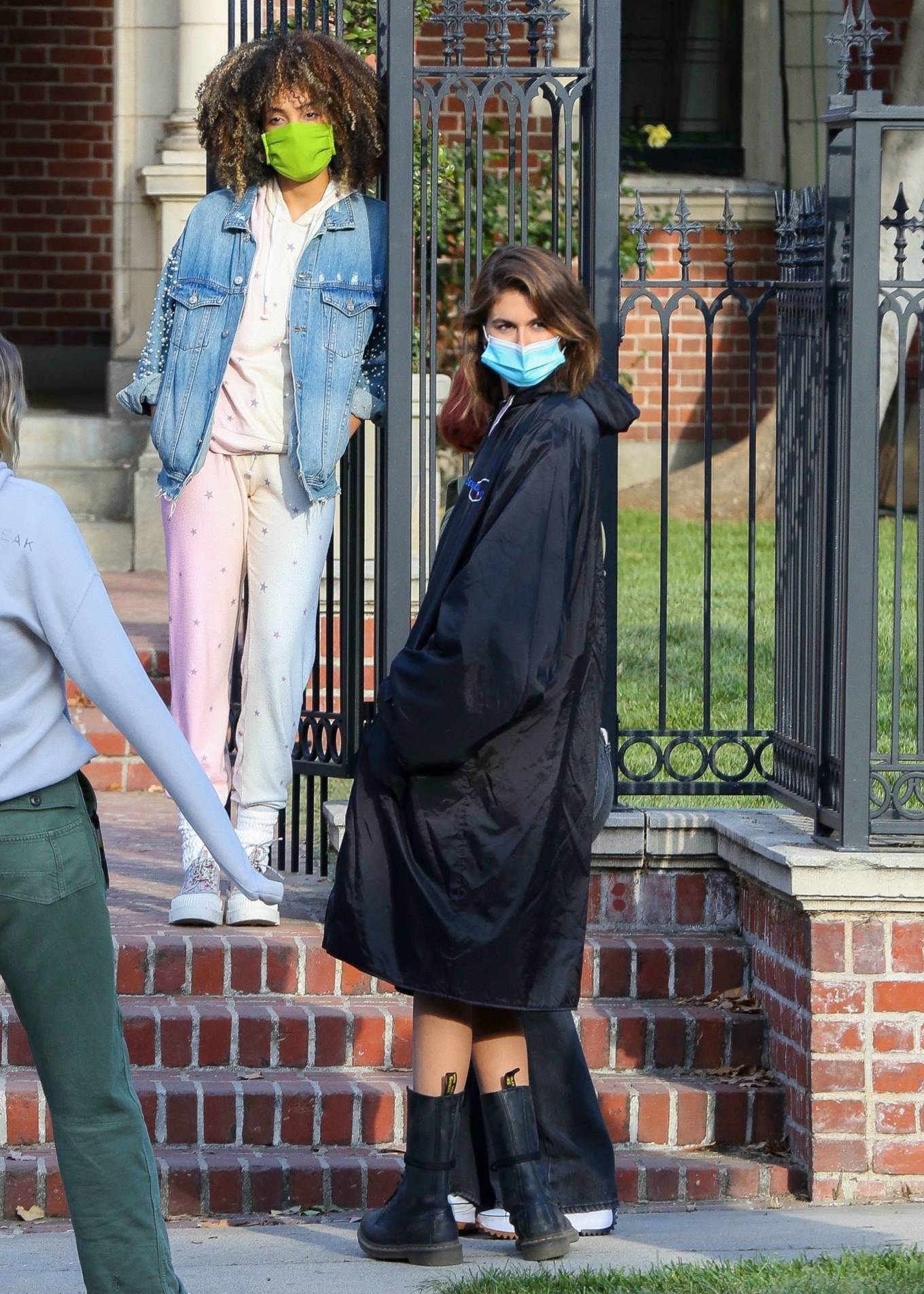 Kaia Gerber 2021 : Kaia Gerber – Seen at American Horror Story Season 10 set in Burbank-06