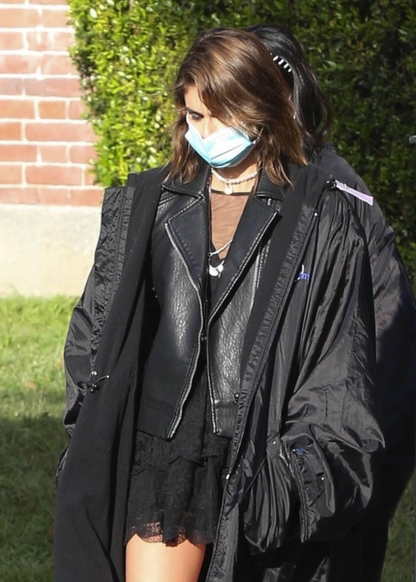 Kaia Gerber 2021 : Kaia Gerber – Seen at American Horror Story Season 10 set in Burbank-08