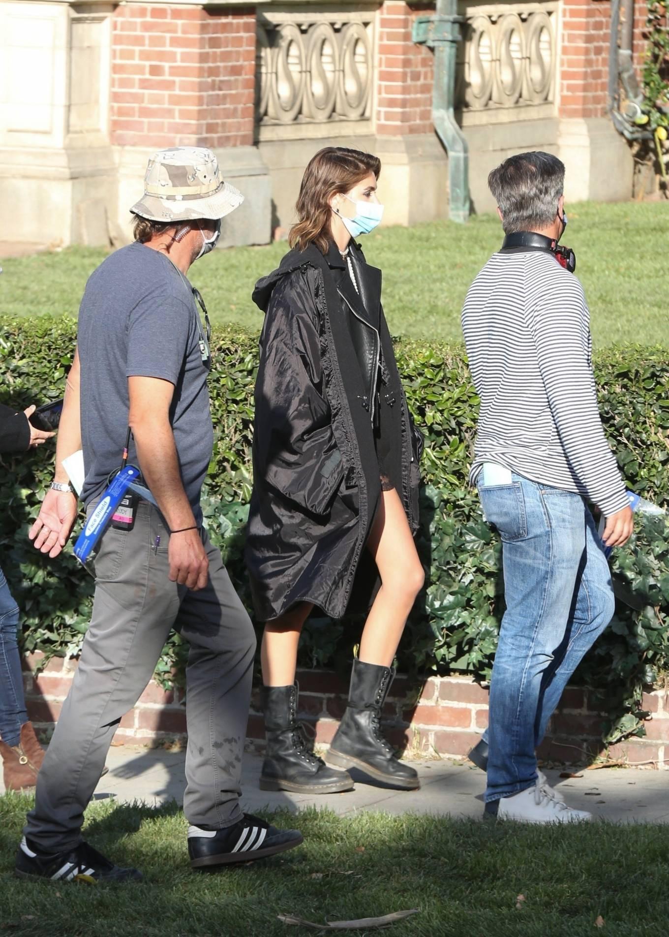 Kaia Gerber 2021 : Kaia Gerber – Seen at American Horror Story Season 10 set in Burbank-09