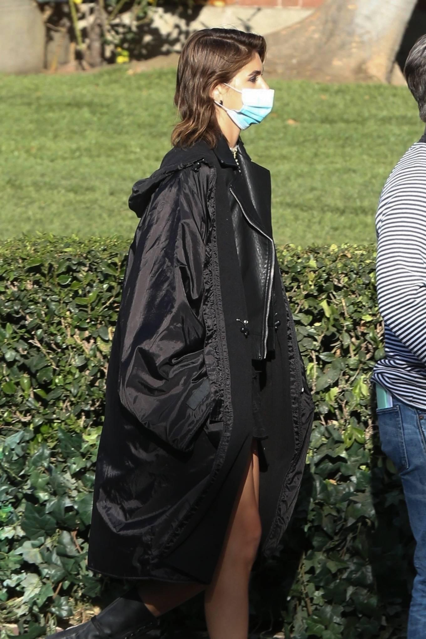 Kaia Gerber 2021 : Kaia Gerber – Seen at American Horror Story Season 10 set in Burbank-11