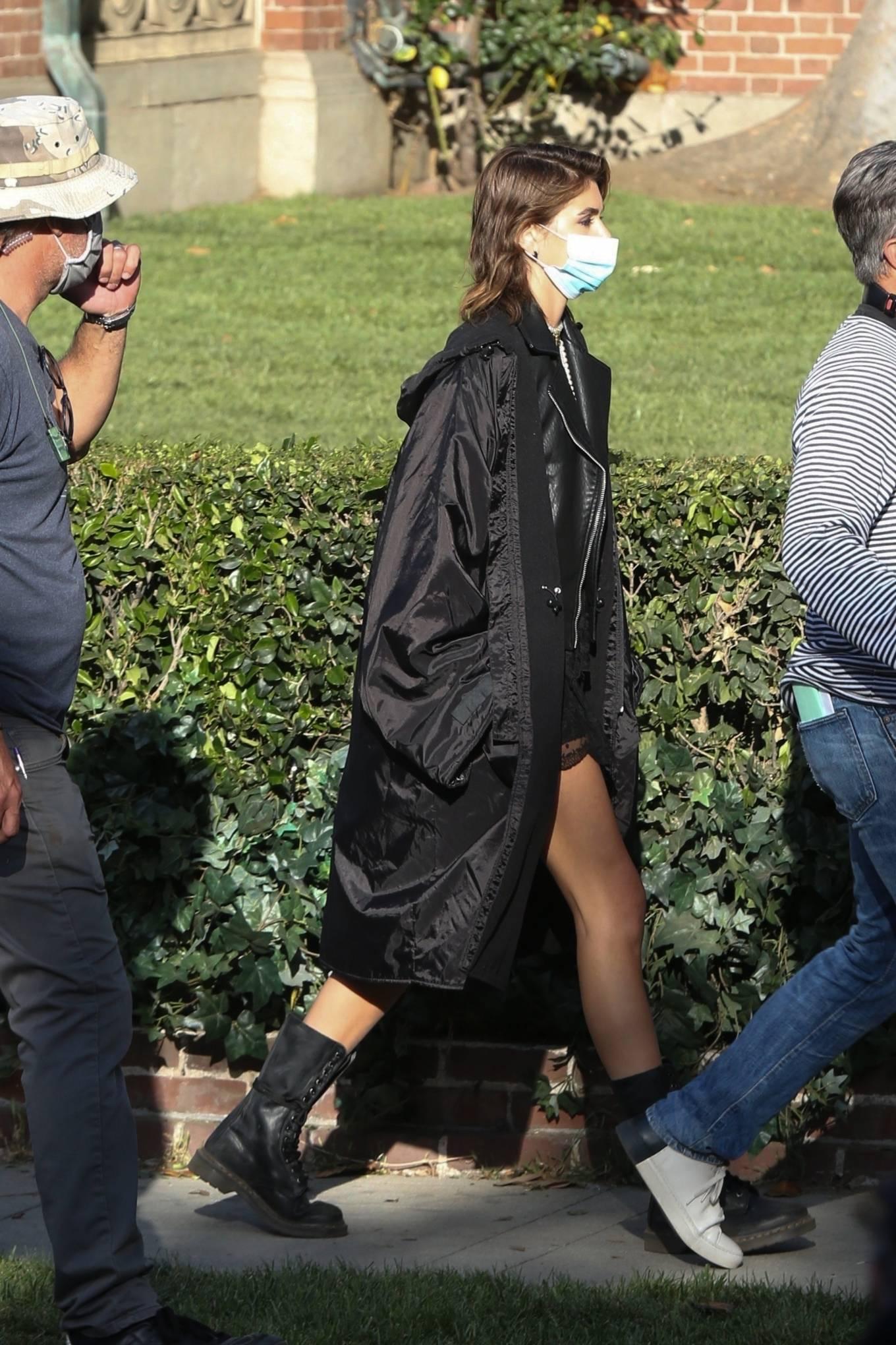 Kaia Gerber 2021 : Kaia Gerber – Seen at American Horror Story Season 10 set in Burbank-15