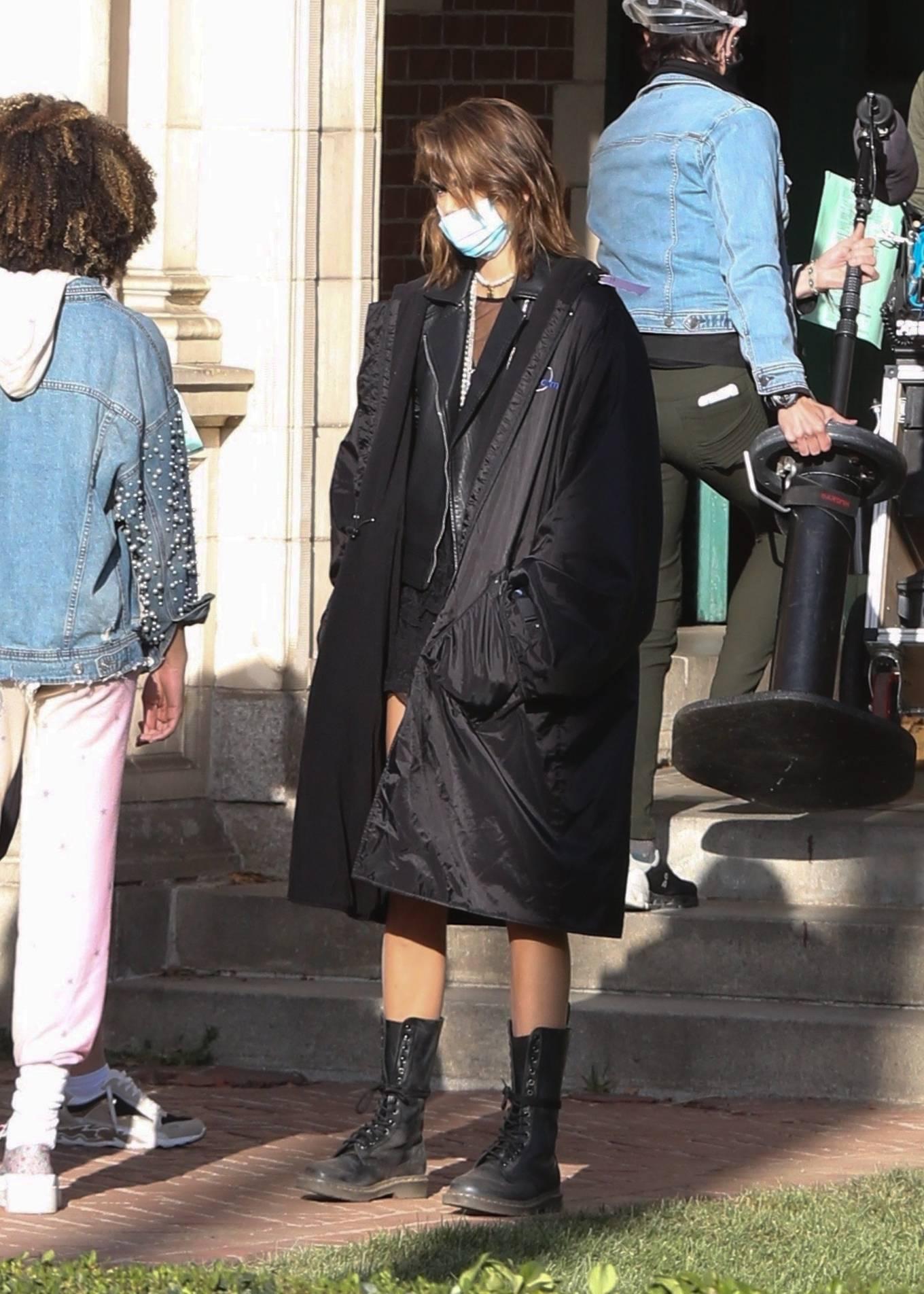 Kaia Gerber 2021 : Kaia Gerber – Seen at American Horror Story Season 10 set in Burbank-16
