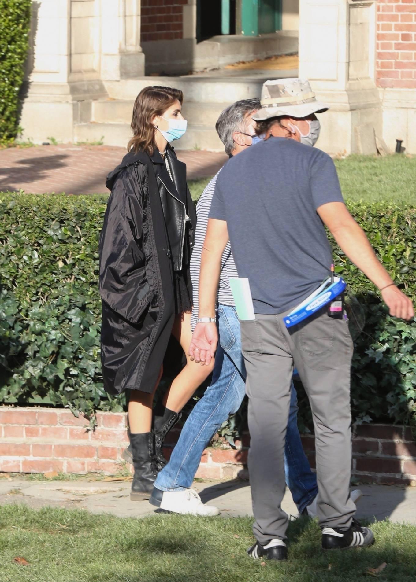 Kaia Gerber 2021 : Kaia Gerber – Seen at American Horror Story Season 10 set in Burbank-17