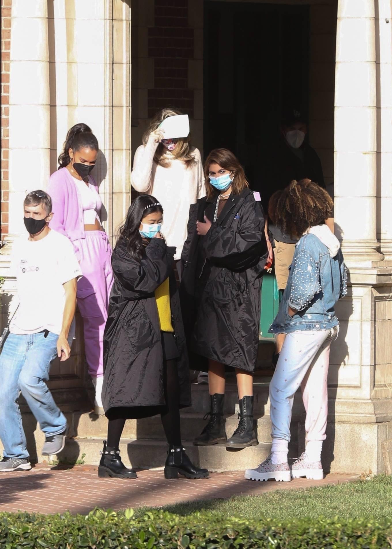 Kaia Gerber 2021 : Kaia Gerber – Seen at American Horror Story Season 10 set in Burbank-18