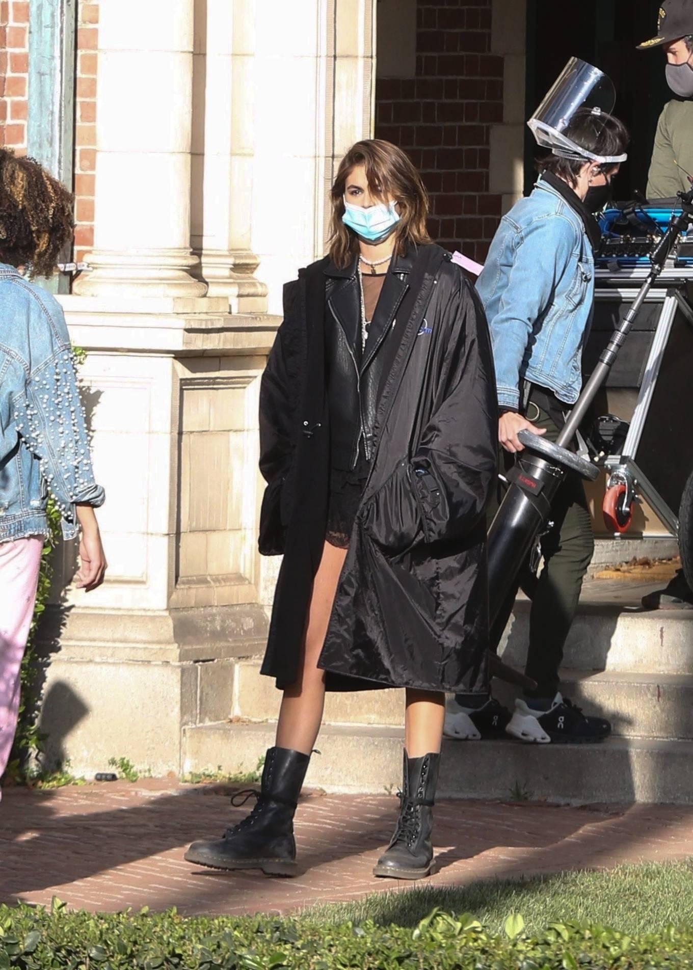 Kaia Gerber 2021 : Kaia Gerber – Seen at American Horror Story Season 10 set in Burbank-19