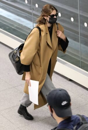 Kaia Gerber - Seen at JFK Airport in New York