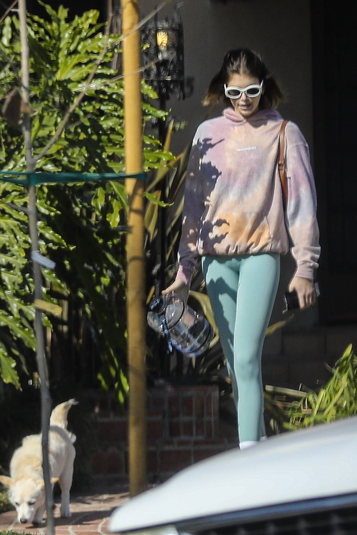 Kaia Gerber 2020 : Kaia Gerber – Seen walking her dog in Santa Monica-07
