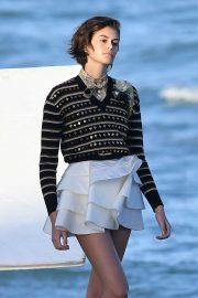 Kaia Gerber - Shoot for Louis Vuitton on the beach in Florida