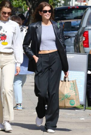 Kaia Gerber -Shopping at Whole Foods in New York