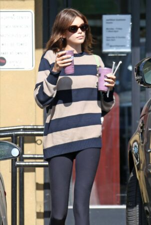 Kaia Gerber - Spotted at Earth Bar in Los Angeles