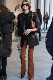 Kaia Gerber spotted out in Milan during Milan Fashion Week