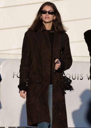 Kaia Gerber - Visits the Louis Vuitton Foundation in Paris