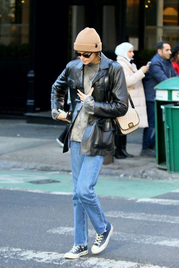 Kaia Gerber - Wearing a Louis Vuitton bag in NYC