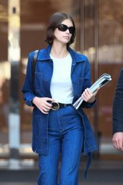 Kaia Gerber - Wears retro jeans while out in Milan - Italy