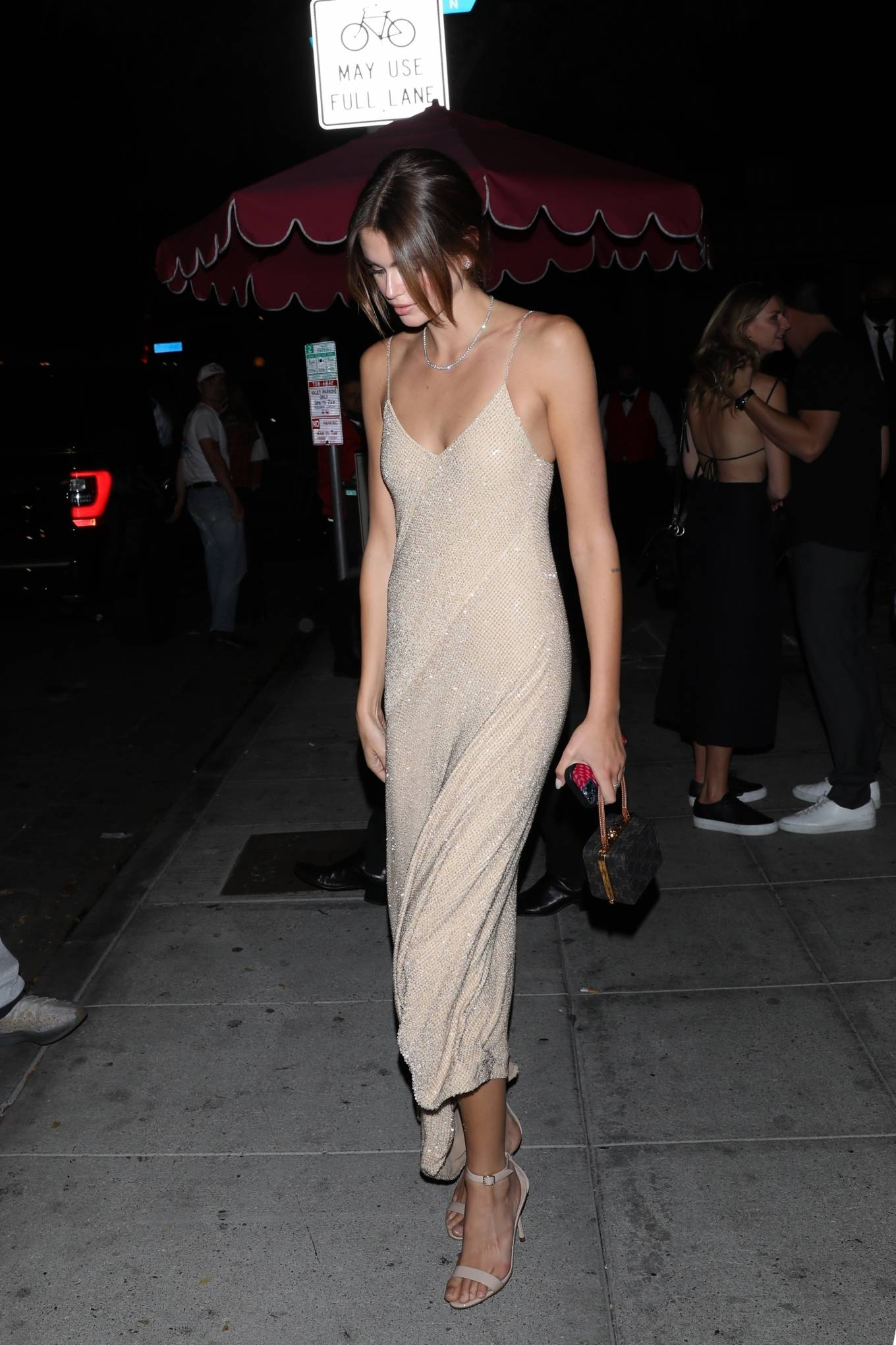Kaia Gerber - With boyfriend Jacob Elordi at the Delilah nightclub in West Hollywood