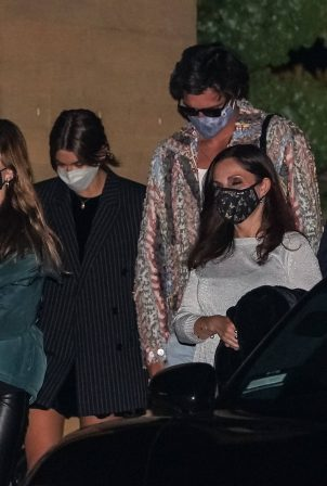 Kaia Gerber - With boyfriend Jacob Elordi dinner at Nobu restaurant in Malibu