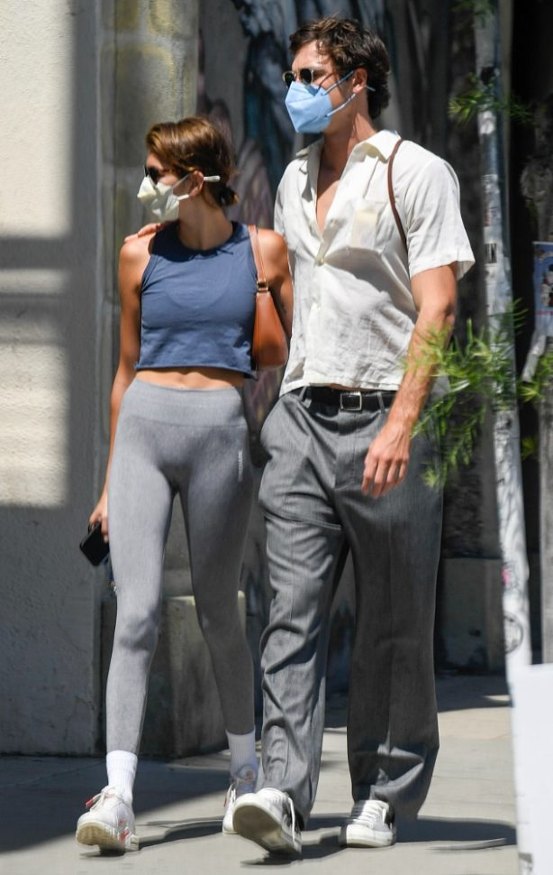 Kaia Gerber - With boyfriend Jacob Elordi in Los Feliz