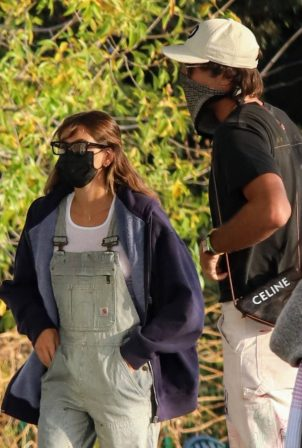 Kaia Gerber - With boyfriend Jacob Elordi in Malibu