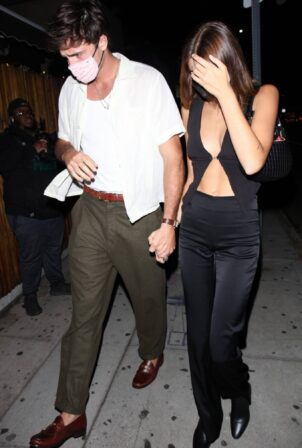 Kaia Gerber - With her boyfriend Jacob Elordi step out to dinner in West Hollywood