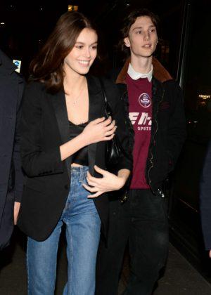 Kaia Gerber with her boyfriend Wellington Grant in Milan