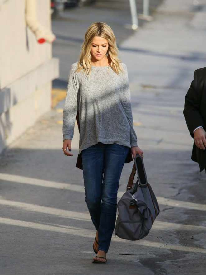 Kaitlin Olson: Arriving at Jimmy Kimmel Live -01