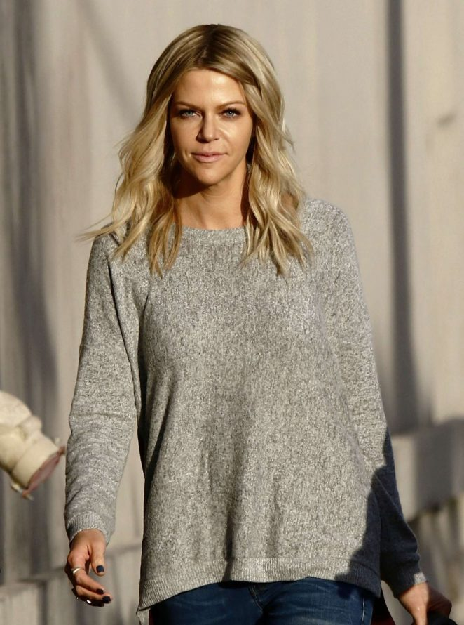 Kaitlin Olson: Arriving at Jimmy Kimmel Live -08
