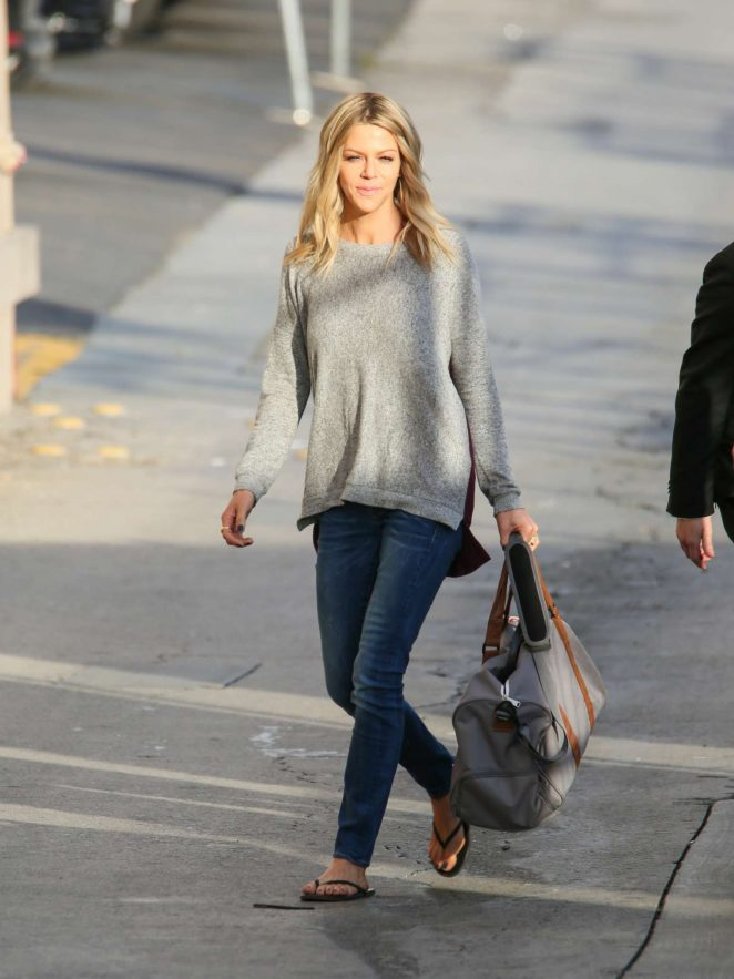 Kaitlin Olson: Arriving at Jimmy Kimmel Live -12