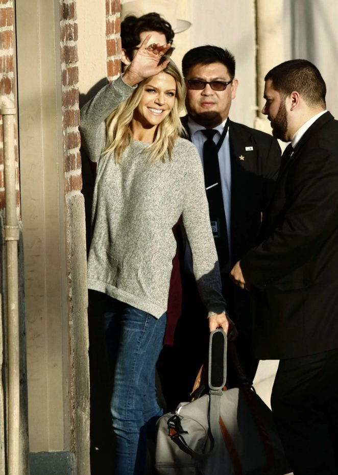 Kaitlin Olson: Arriving at Jimmy Kimmel Live -14