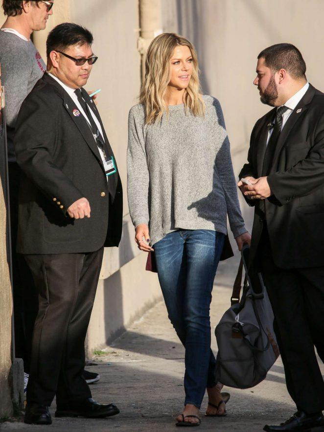 Kaitlin Olson: Arriving at Jimmy Kimmel Live -15