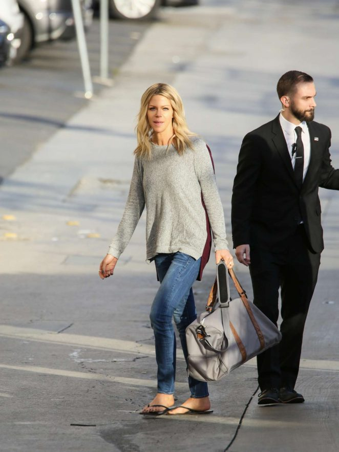 Kaitlin Olson: Arriving at Jimmy Kimmel Live -19