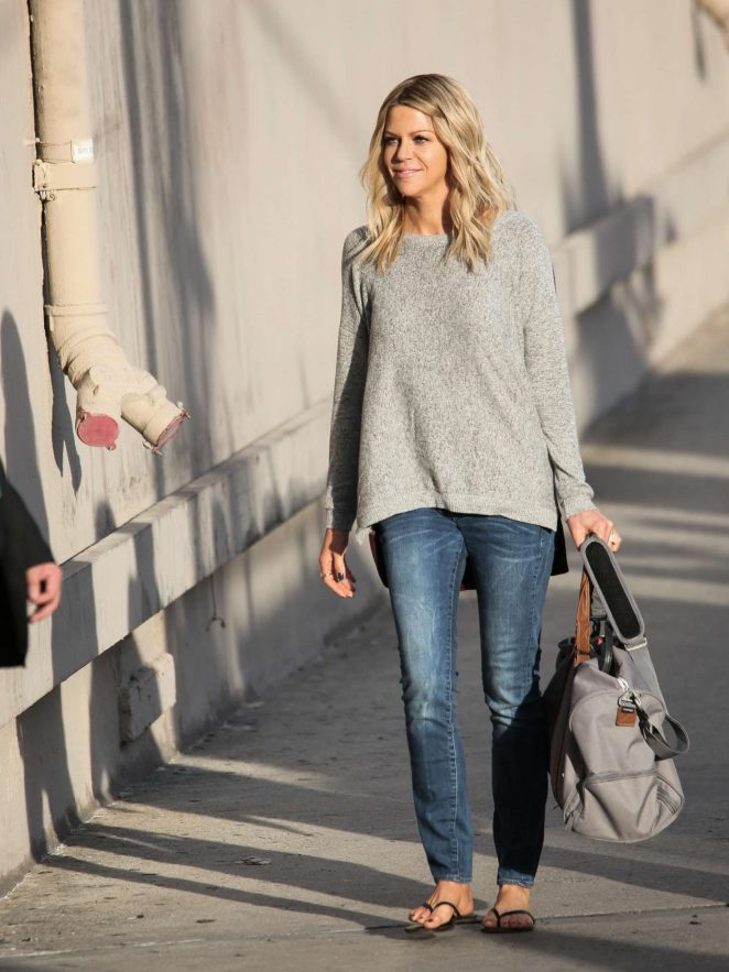 Kaitlin Olson: Arriving at Jimmy Kimmel Live -21