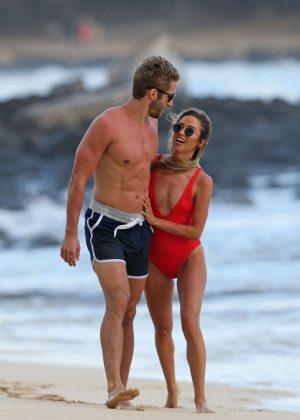 London Hughes in Orange Bikini at a pool party in Cape Verde Pic 10 of 35