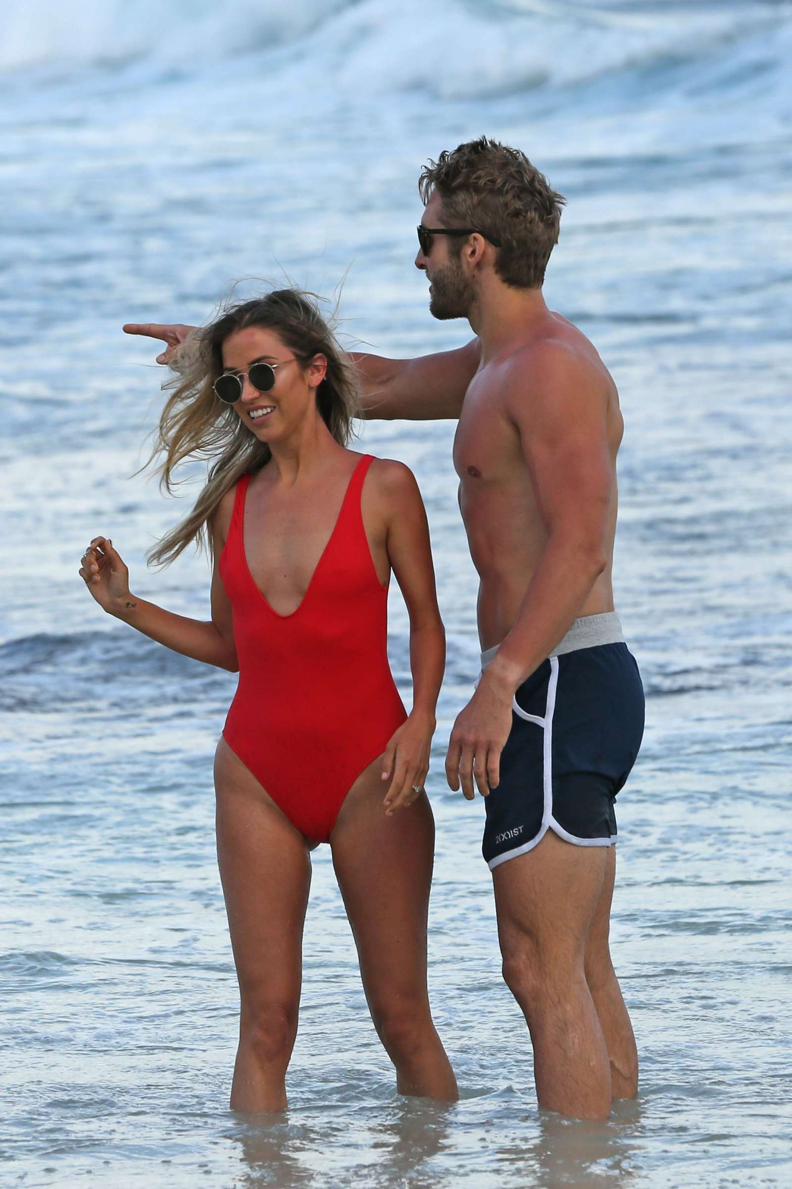 London Hughes in Orange Bikini at a pool party in Cape Verde Pic 3 of 35