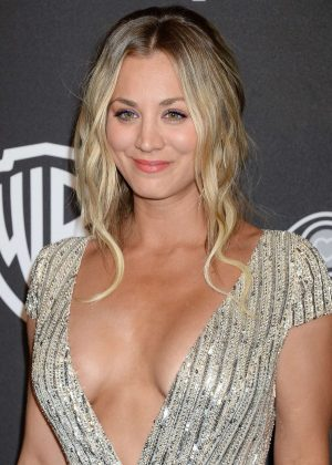 Kaley Cuoco - 2017 InStyle and Warner Bros Golden Globes After Party in LA